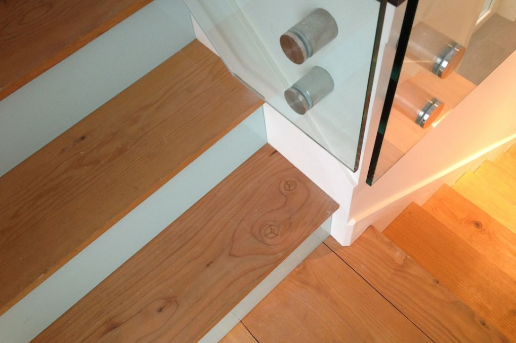 Reclaimed Douglas Fir Stair Treads In Contrast With ...